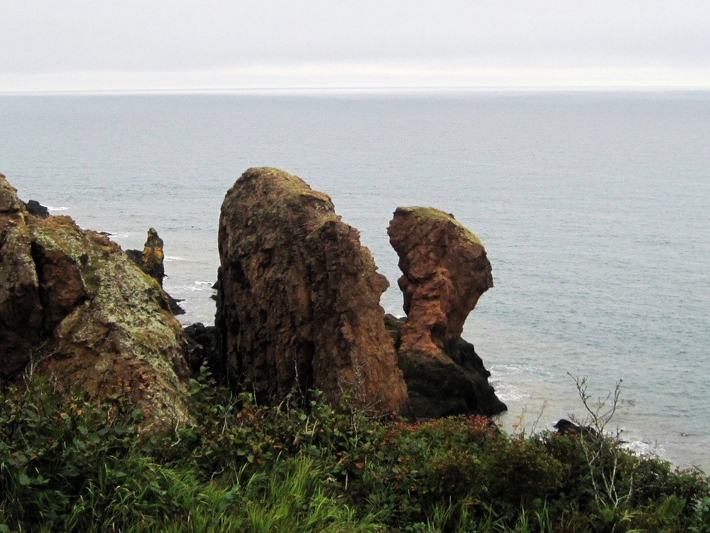 The Three Sisters sea stacks at Cape Chignecto, Nova Scotia.