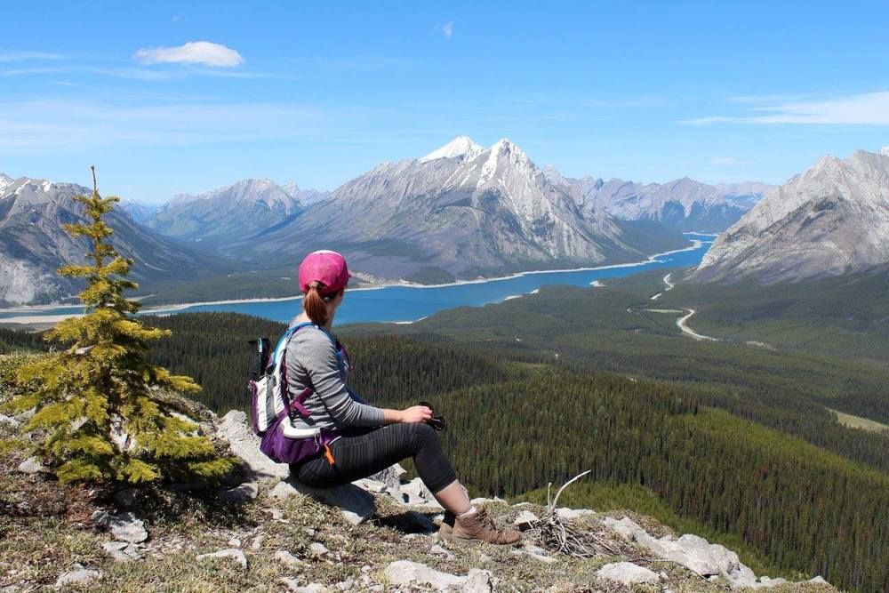 Looking out at Spray Lake from Tent Ridge in Kananaskis.