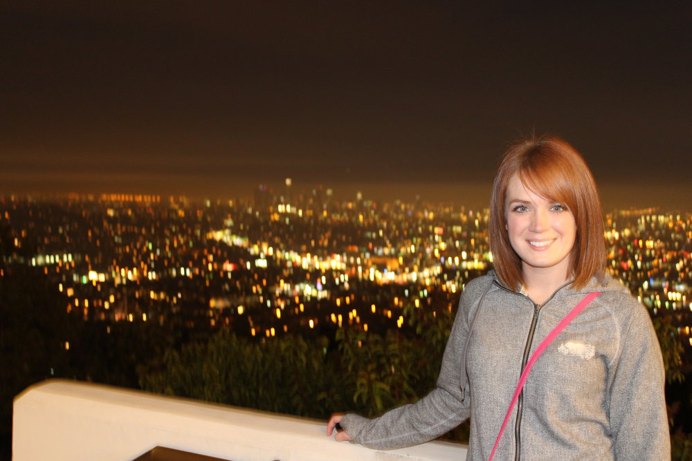 The LA city skyline from Griffith Observatory
