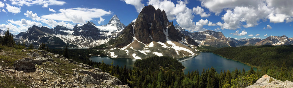 Sunburst Peak and Mount Assiniboine.