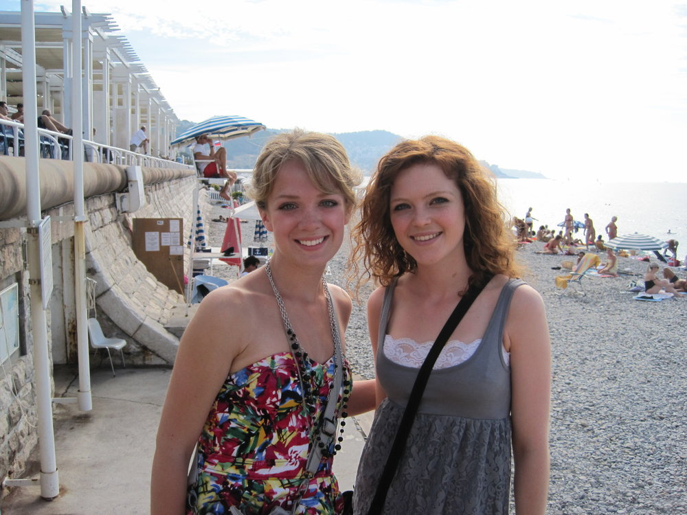 Me and Kelsey in Nice, France.