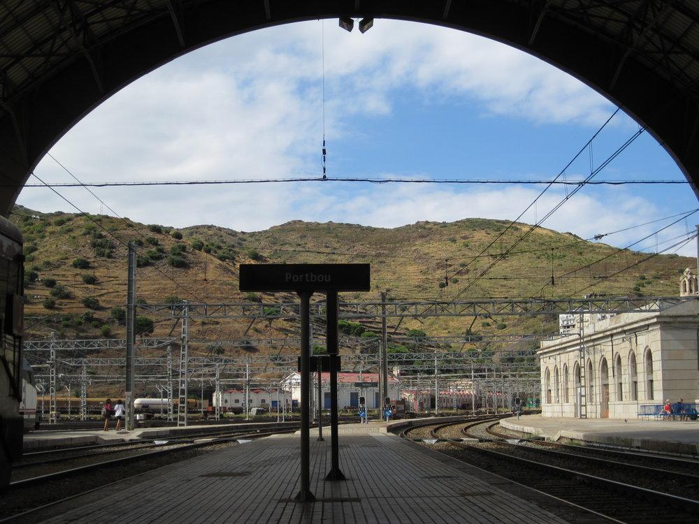 Railway station in Spain.