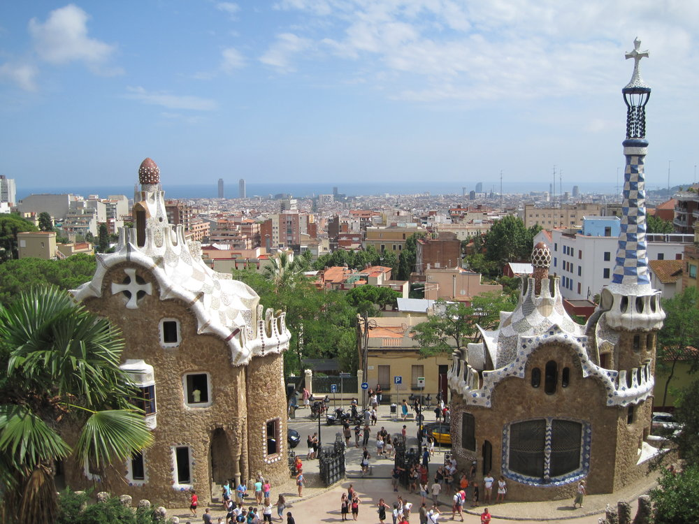 Antoni Gaudi's Parc Guell, Barcelona, Spain.