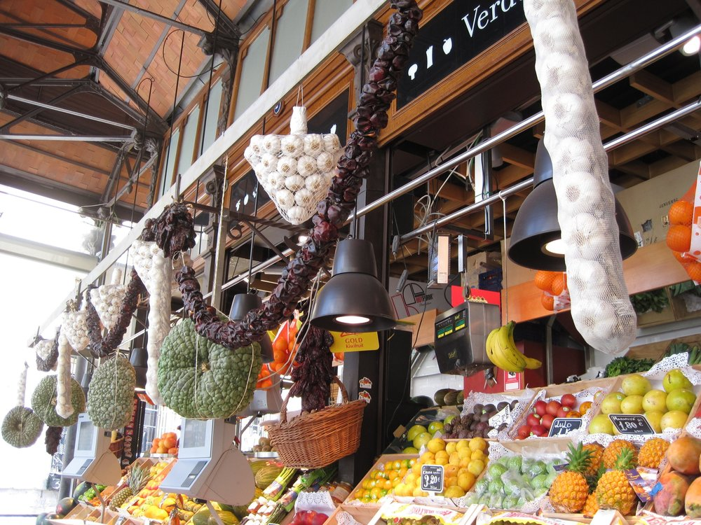 Mercado San Miguel in Madrid, Spain.