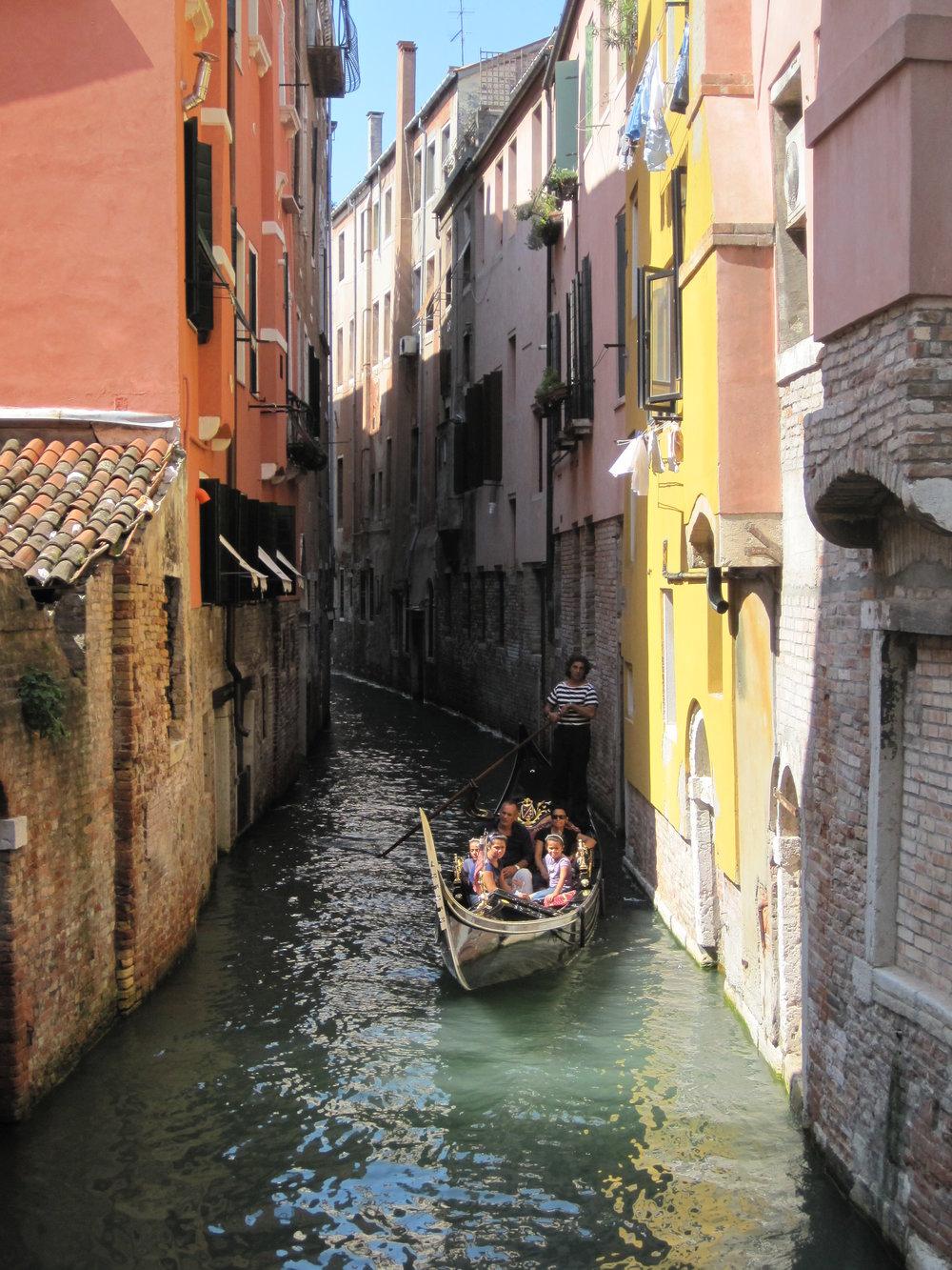 A gondola in Venice, Italy.