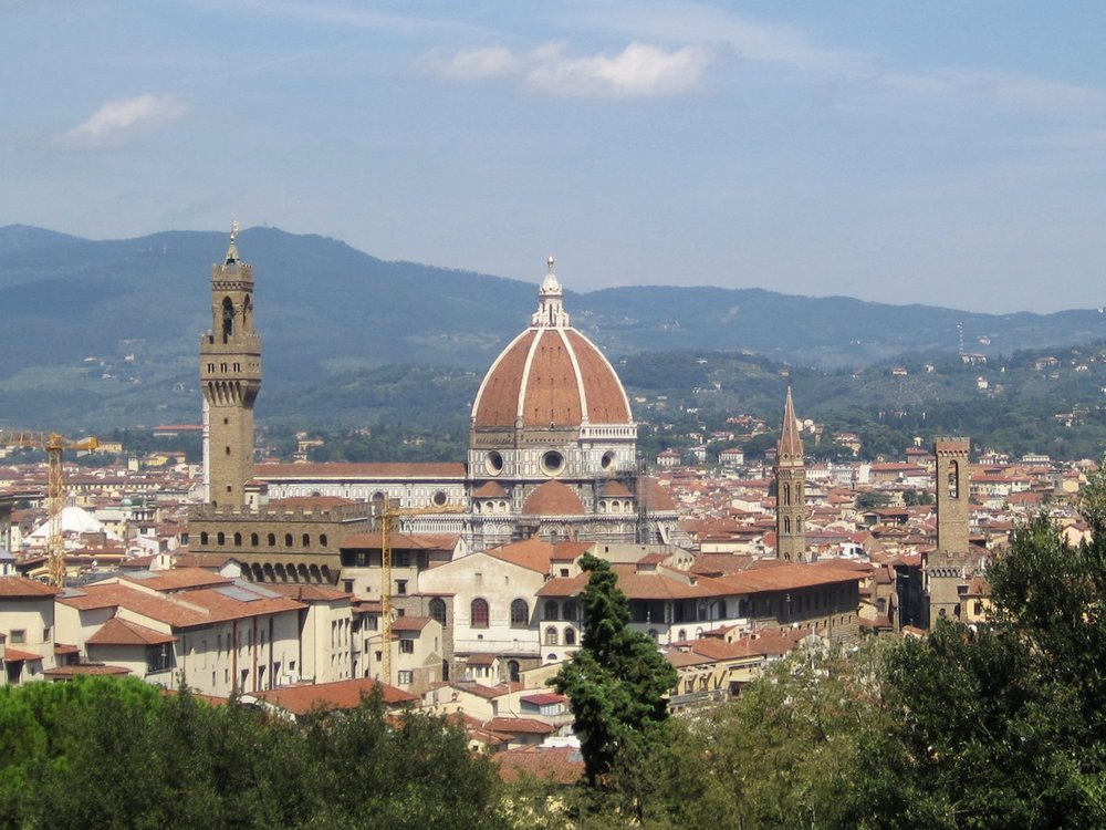 The Dome of Florence Cathedral (Il Duomo di Firenze), Italy.