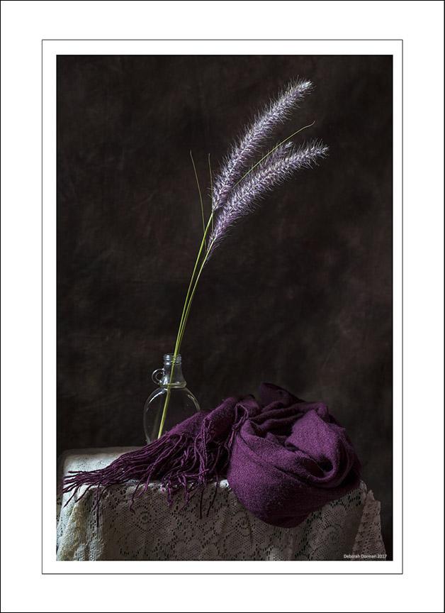 Deborah Dorman Scarf & Flower 1