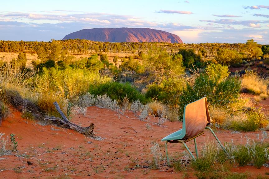 Front row seat at Uluru