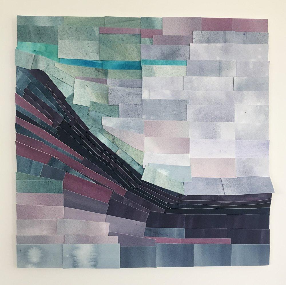 """Altadena, 11.5"""" x 11.5"""", watercolor"""