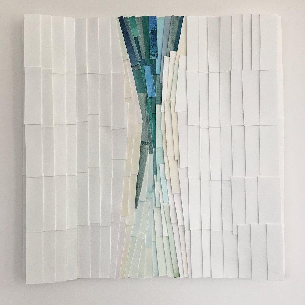 "Ocean/Inverted, 11.5"" x 11.5"", watercolor"