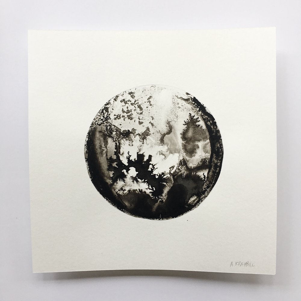 "Moon Study No. 1 / 9"" x 9"""