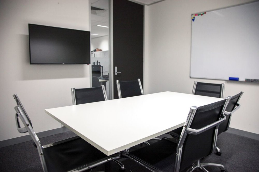 CHARLIE - Capacity: 6 PeopleFeatures: Professional meeting room with whiteboard, board room table and chairs