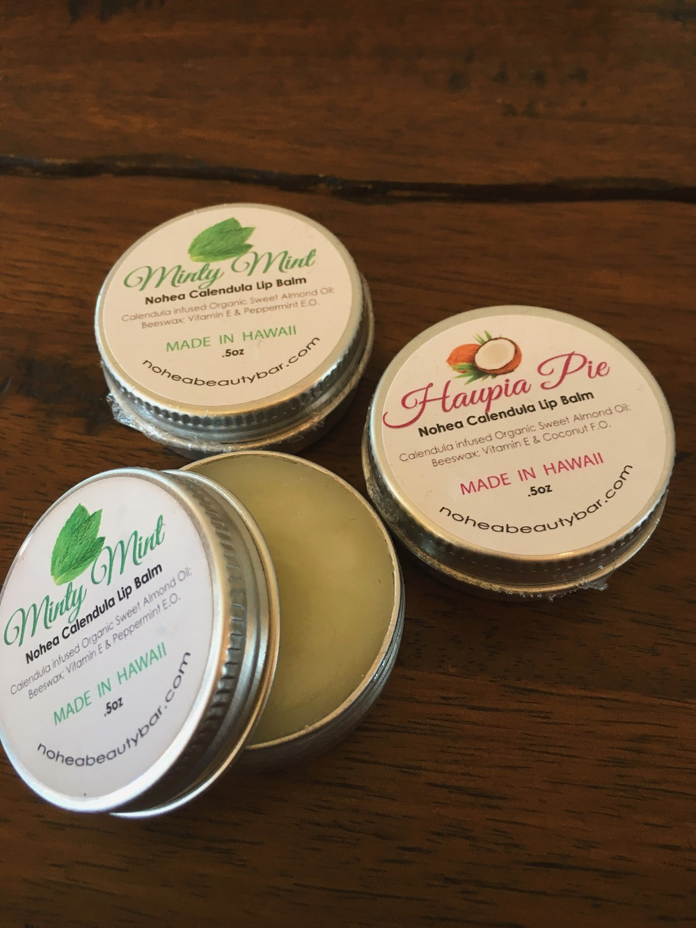 Yummy lip balms! Literally, you can't help but lick your lips when you apply this luscious balm to your smackers.