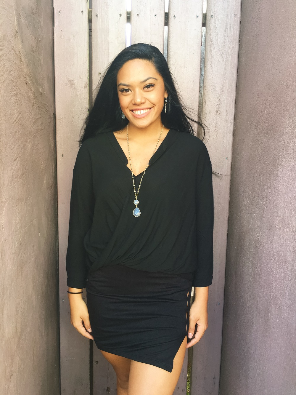 Okay okay, if skirts just aren't your thing, this blouse is sure to be! It goes with everything, and is made of a comfortable,lightweight material. It can go from the office, right into a night out.