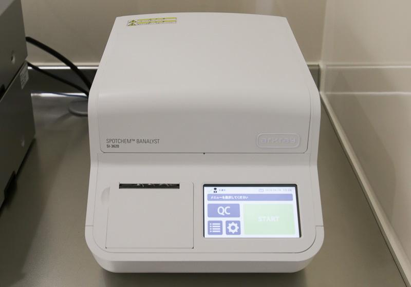 血液検査:炎症反応(CRP)と糖尿病(HbA1c)の結果が分かります。