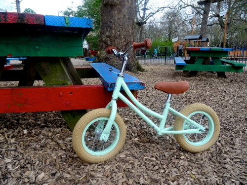 Our gorgeous balance bike, just £5 a month, on a flexible contract