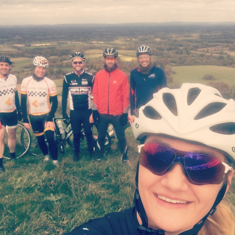 The top of Ditchling Beacon