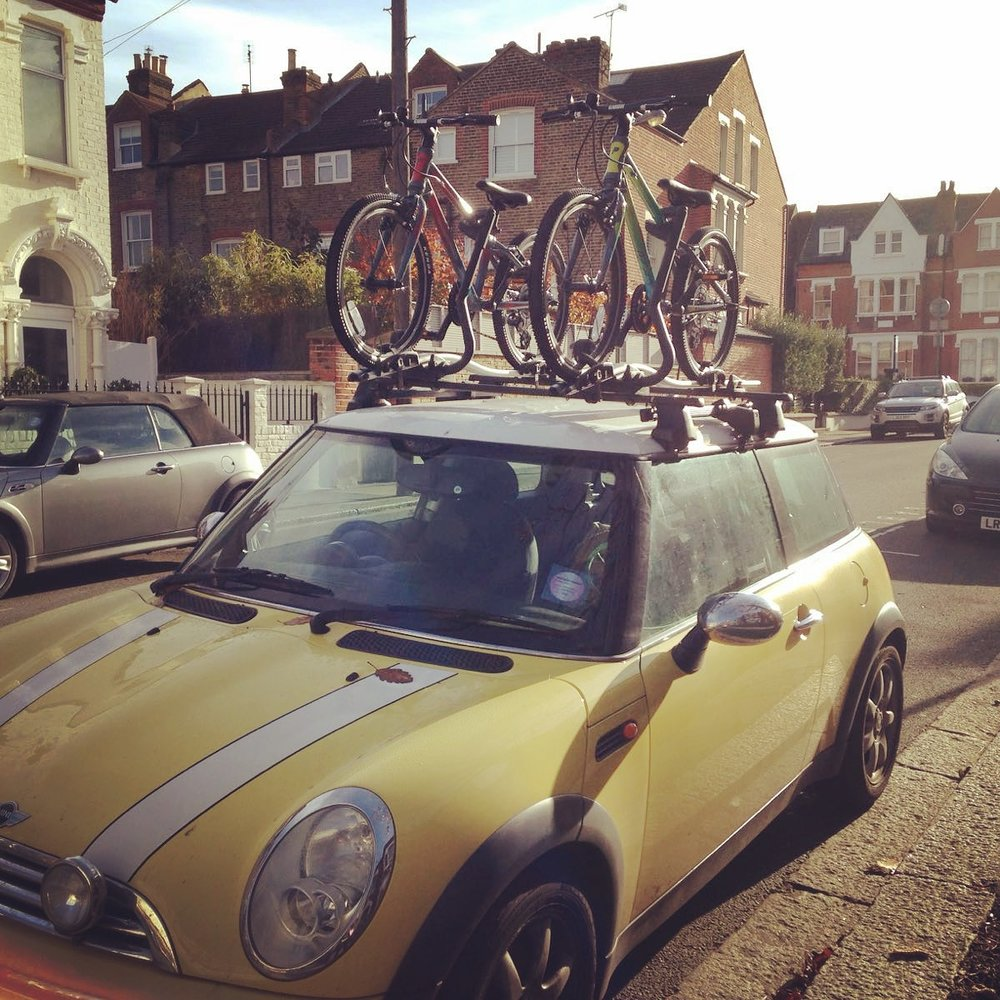 "The ""maillot jaune"" loaded with bikes ready for delivery"