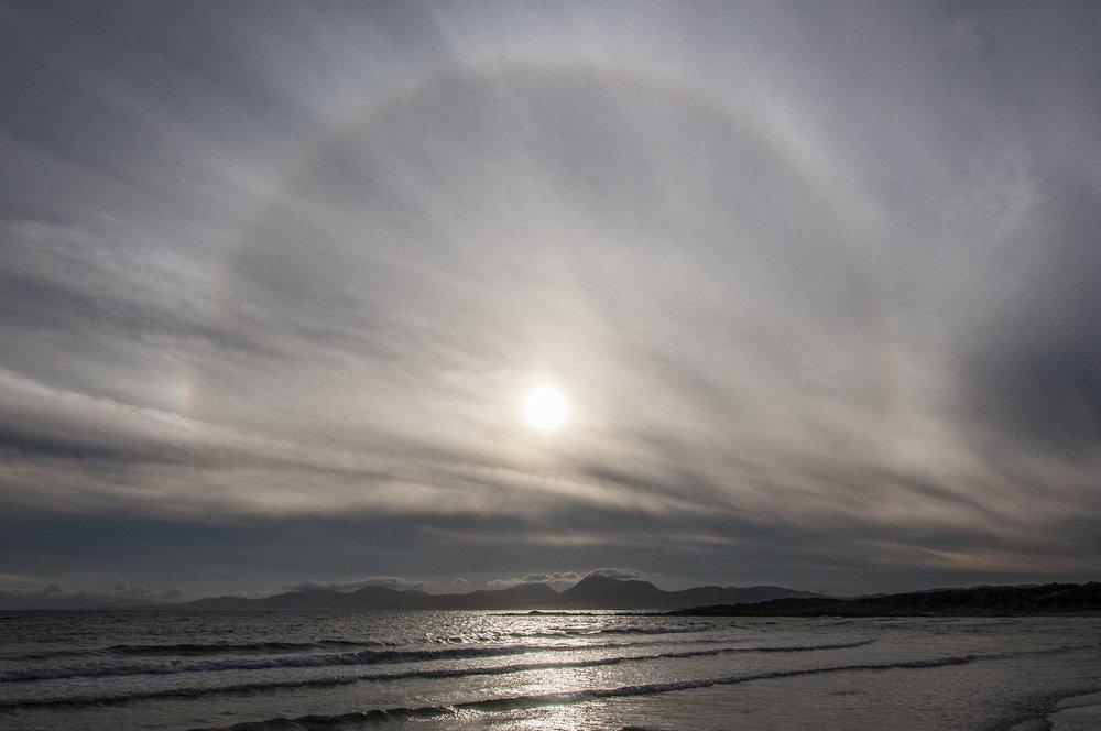 Kilmory beach solar Halo