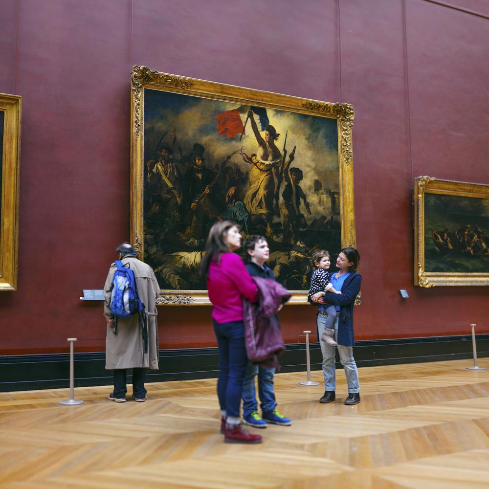 フランス:「ルーブル美術館、民衆を導く自由の女神/Louvre Museum ,Liberty Leading the People」