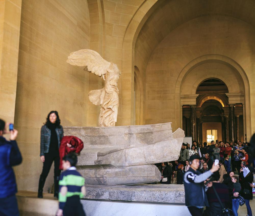 フランス「ルーブル美術館、サモトラケのニケ/Louvre Museum ,Winged Victory of Samothrace」