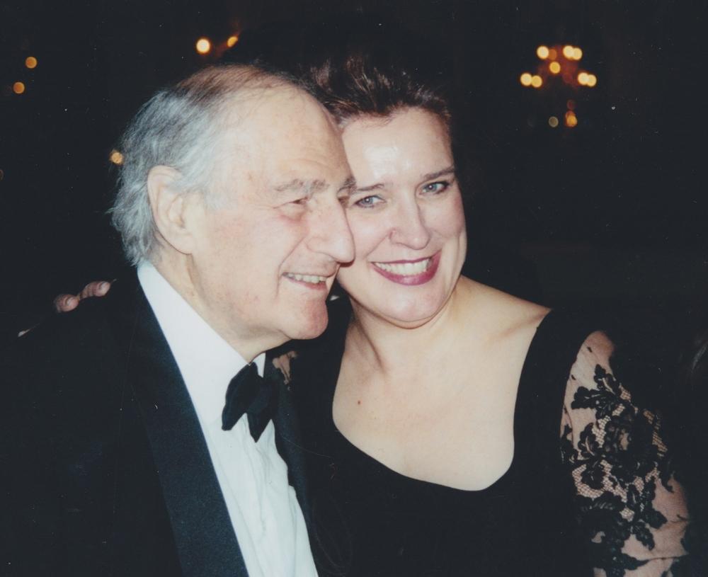 Ms. Porackova with Gian Carlo Menotti, Washington National Opera