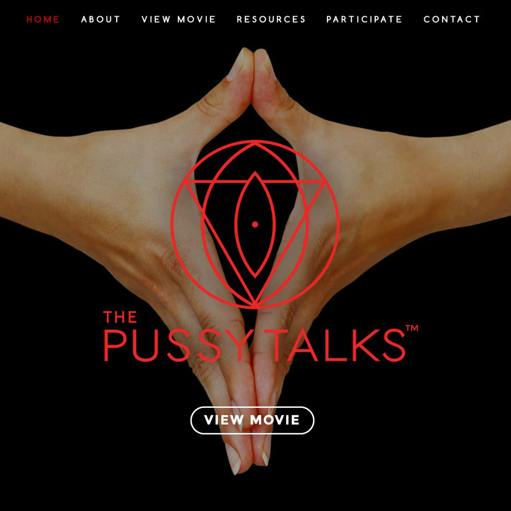 For The Pussy Talks:  Entire direction and management of web presence. Including: ideal client interviews and analysis; photographic vision, direction, and management; template consultation and website sitemapping; all copywriting; project management and coordination with web designer and developer. We partnered with Jamie Allio Photography for beautiful portraits, Tyler Nilson for logo and design, and Michael Gaio for web development.