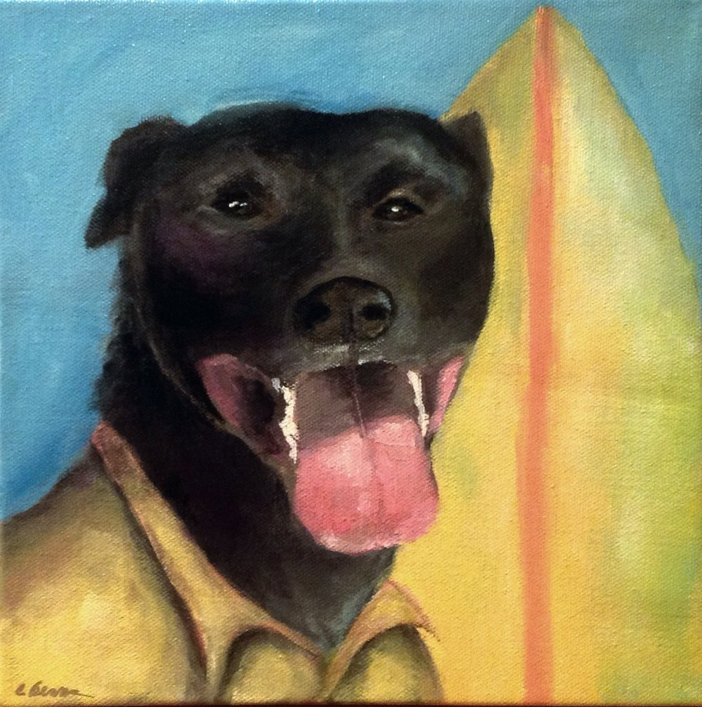 Chillaxn' with Jaxon:   Acrylic on Canvas - 10X10