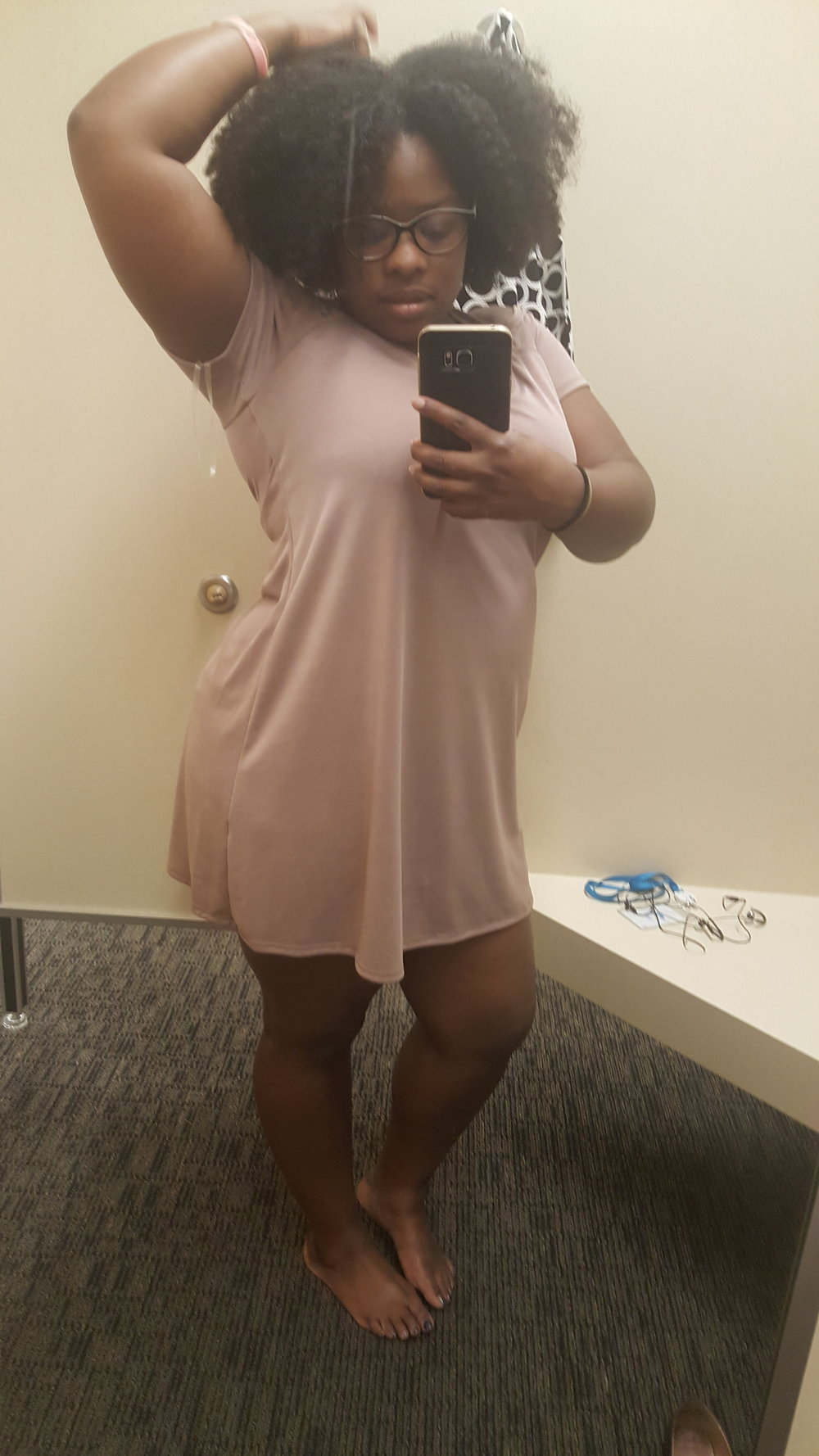 I didn't buy the dress but my hair was poppin' that day!