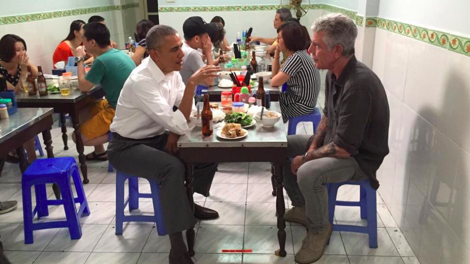 Anthony Bourdain Treated President Obama to Dinner in Vietnam
