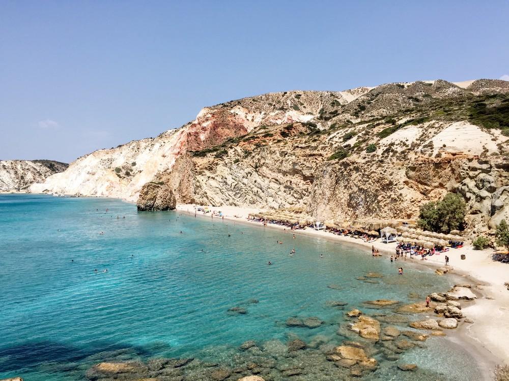Fyriplaka: one of the few organised beaches