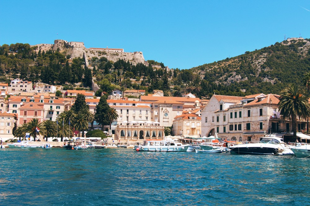 Approaching Hvar's town port