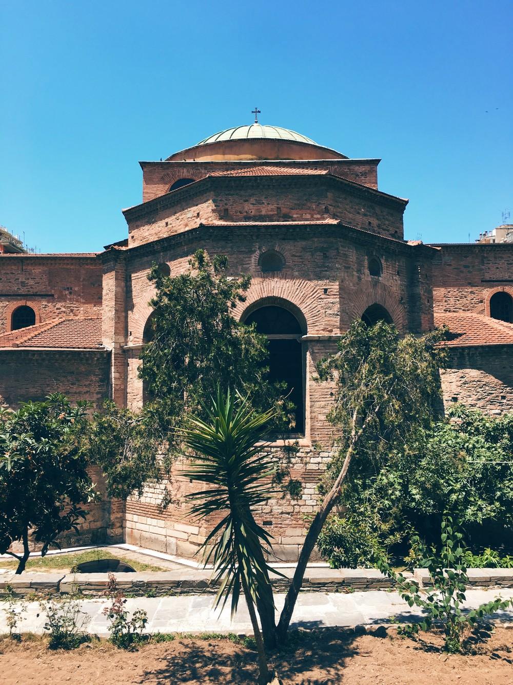 Back view of Agia Sofia church