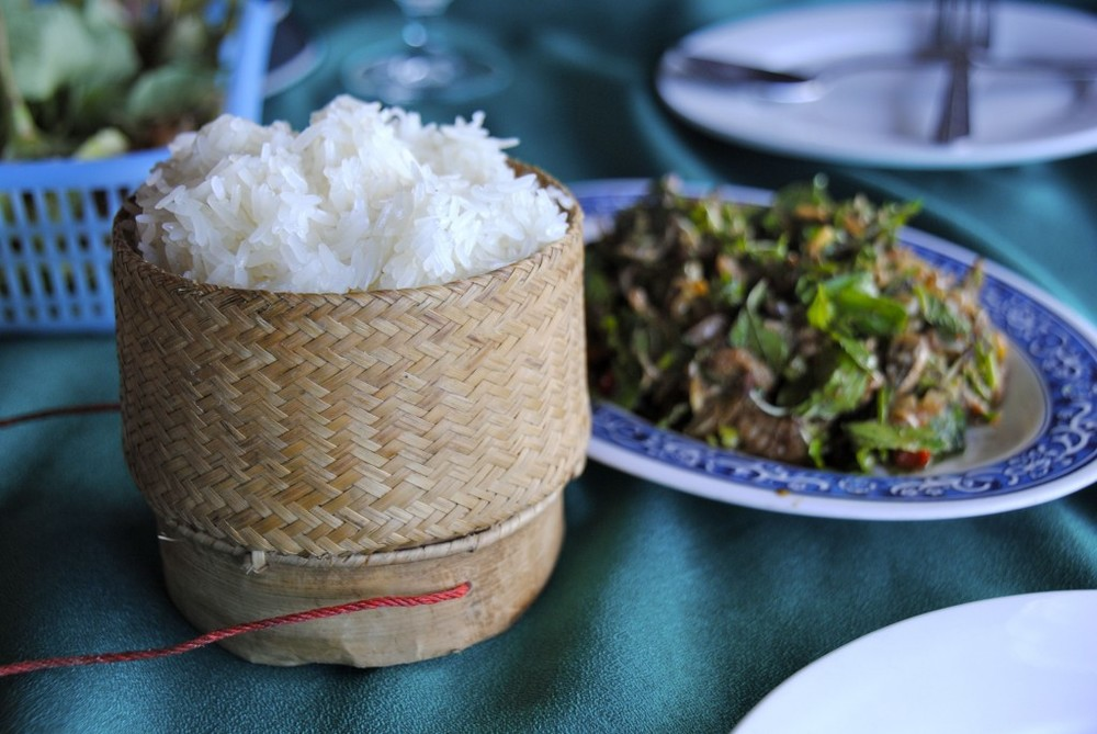 Laos - Klao niaw : sticky rice, plain and simple. Accompanying most dishes in Lao cuisine