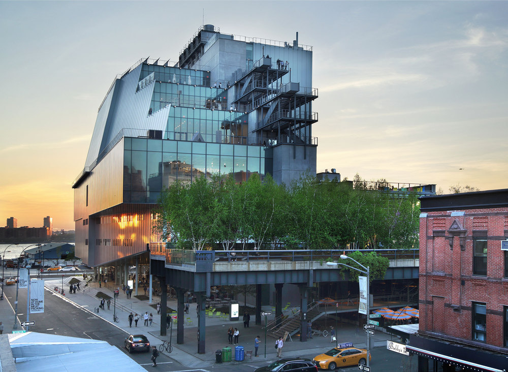 The new building of the Whitney museum designed by Renzo Piano
