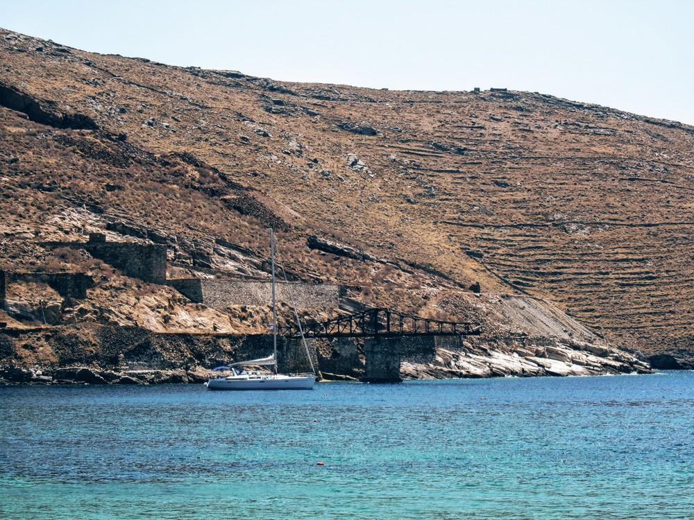 Old mine platform in Megalo Livadi