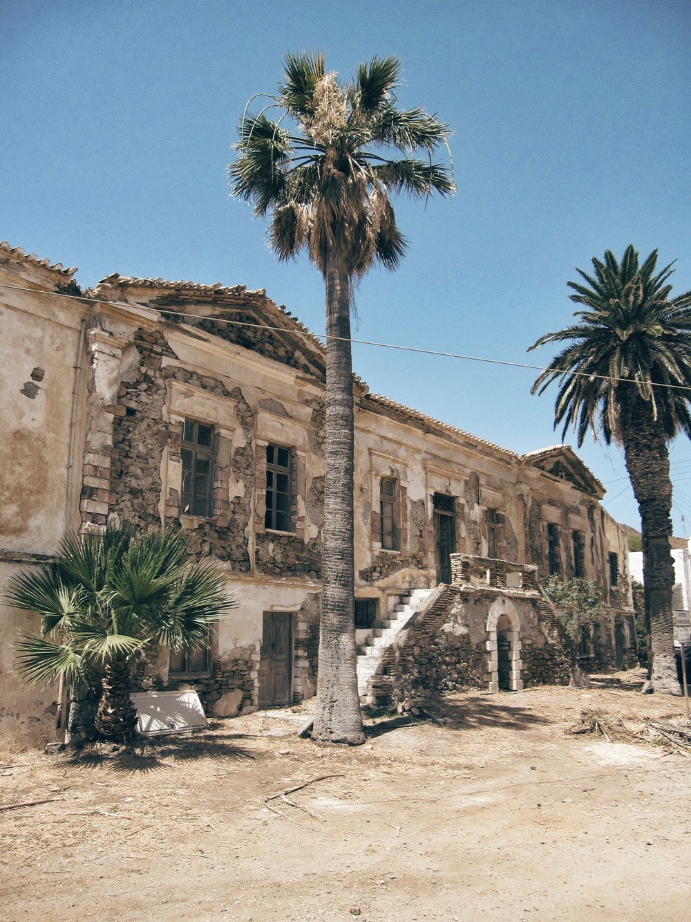 The old HQ of Serifos' mining company, soon to house the mining museum