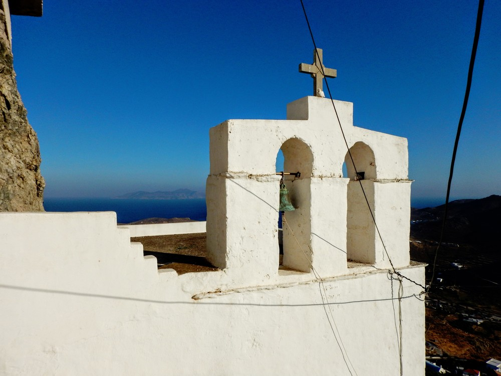 On top of Kastro, the church of Agios Constantinos