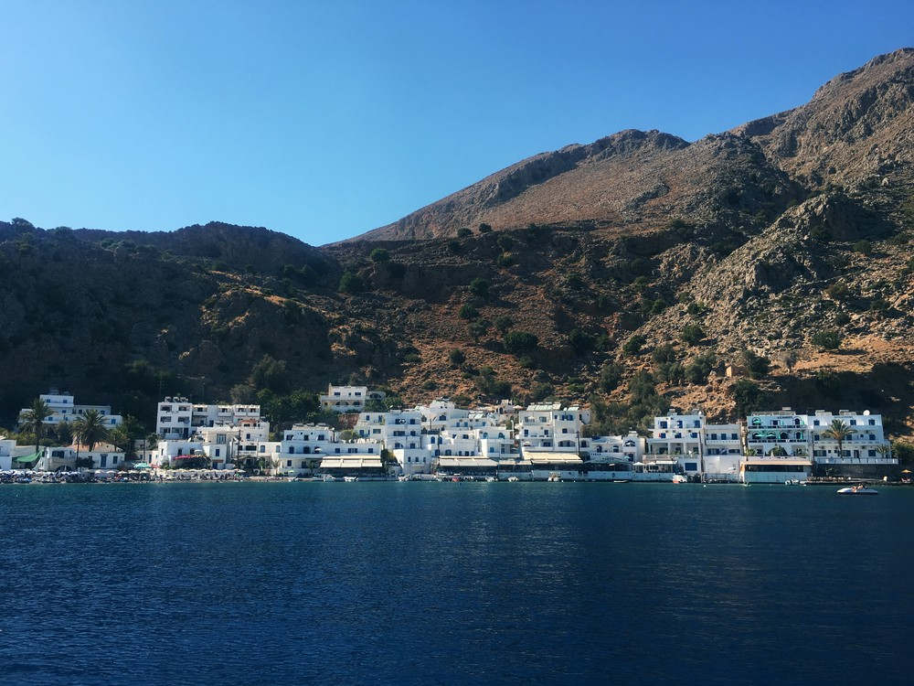 Loutro, located in the southern part of Crete