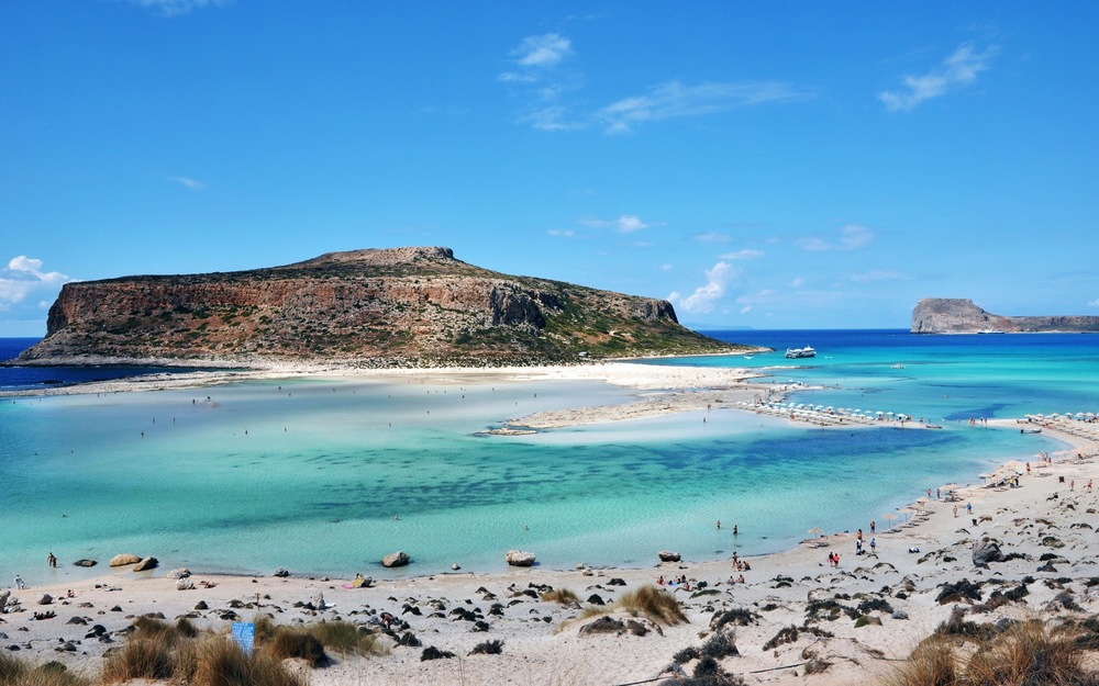 The famous beach of Balos, set in the westernmost end of the Chania region
