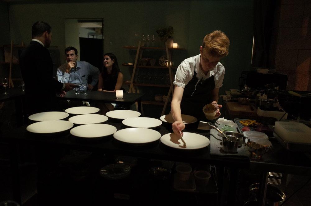 Masterfully serving plates at Eureka