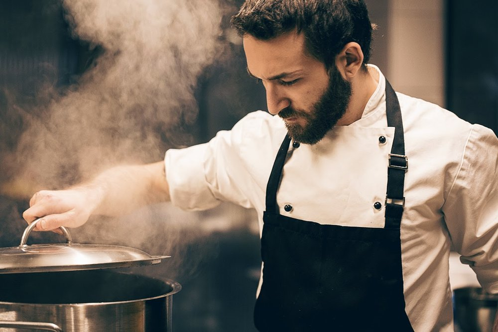Chef Dimitris Tasioulas in the works
