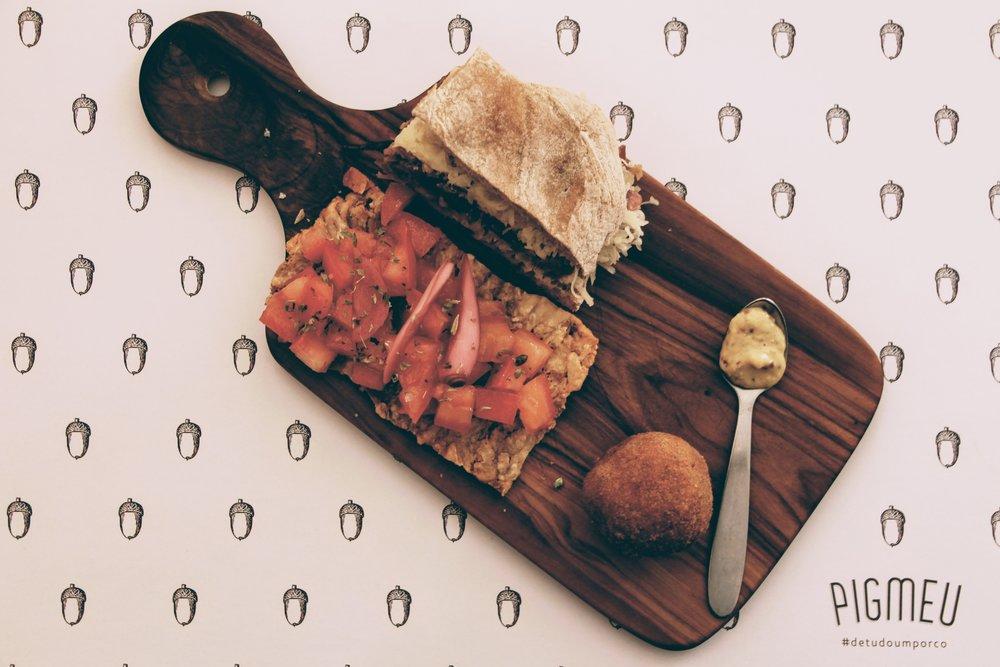 Pork dishes assortment at Pigmeu