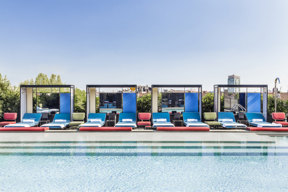 Rooftop pools at Ceresio 7