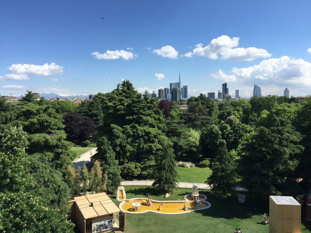 View from Triennale, Milan's Museum of Modern Art