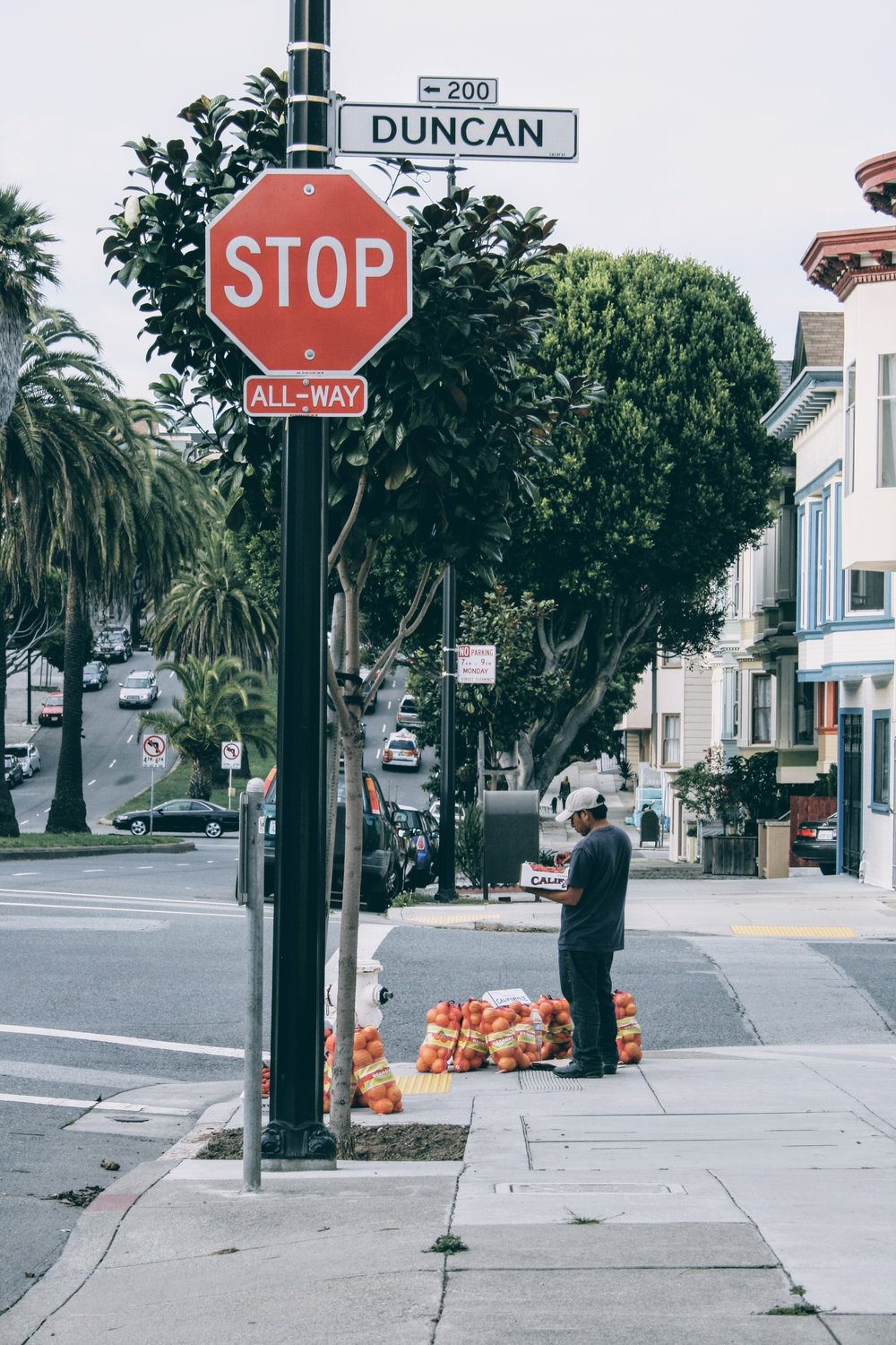 Oranges on sale on Dolores street