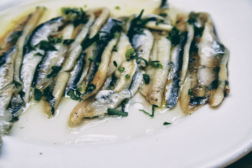 Marinated sardines in extra virgin olive oil