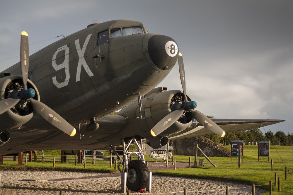 WW2 Plane - Normandy, by eriger / Source:  Pixabay