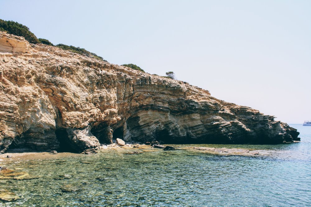 Out and about in the rocky bays of Antiparos