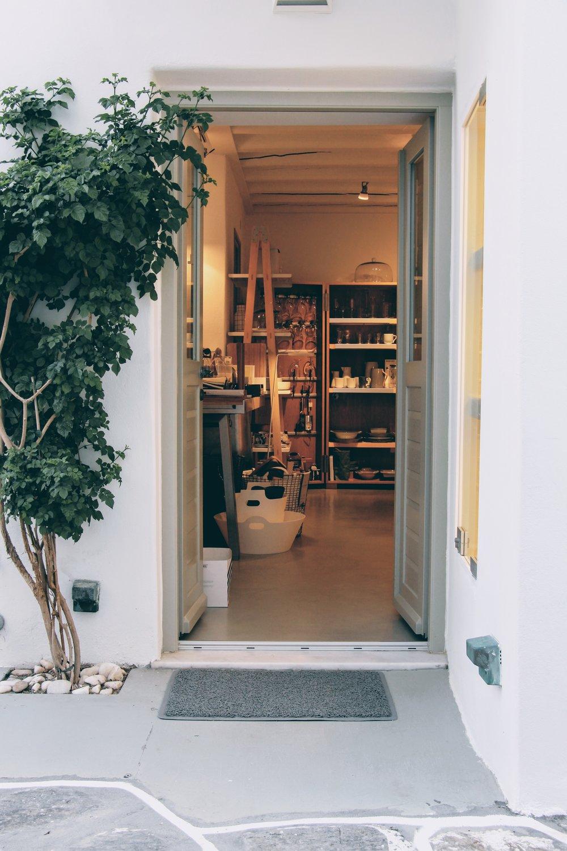 Beautiful aesthetics at Tonos design shop in Naoussa